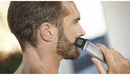 Mini-barberhodet gir en flott finish rundt kantene