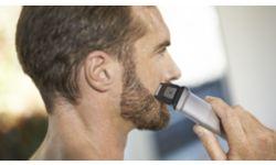 Высокоточная бритва создает идеальный контур на щеках, подбородке и шее
