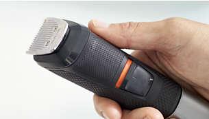 Impugnatura in gomma antiscivolo per un maggiore comfort e controllo