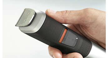 Antypoślizgowy, gumowy uchwyt daje większy komfort i lepszą kontrolę