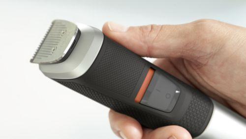 Neklouzavá gumová rukojeť pro větší pohodlí akontrolu