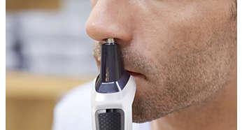 Nasenhaartrimmer zur sanften Entfernung unerwünschter Nasen- und Ohrhaare