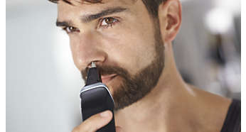 Trymer do włosów w nosie delikatnie usuwa zbędne owłosienie z nosa i uszu