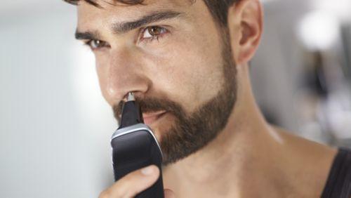 Zastřihovač nosních chloupků jemně odstraňuje nežádoucí chloupky vnose a uších.