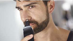El recortador para nariz elimina con suavidad el vello no deseado de la nariz y las orejas