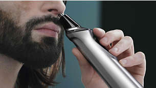 Nose trimmer gently removes unwanted nose and ear hair