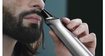 Триммер для носа бережно удаляет нежелательные волоски в носу и ушах