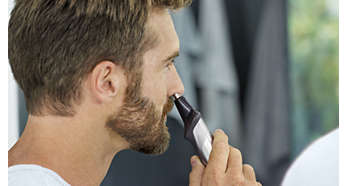 Näs- och öronhårstrimmer, ta bort oönskade hårstrån smärtfritt
