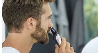 Триммер носа аккуратно удаляет нежелательные носовые и ушные волосы