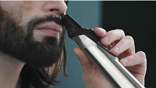Nose and ear trimmer comfortably removes unwanted hair