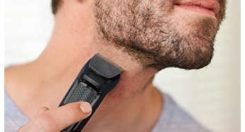 Recorta los bordes de tu barba y cuello para perfeccionar tu aspecto