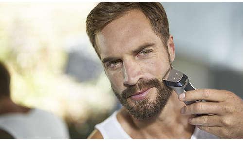 Metalen trimmer trimt baard, haar en lichaamshaar nauwkeurig