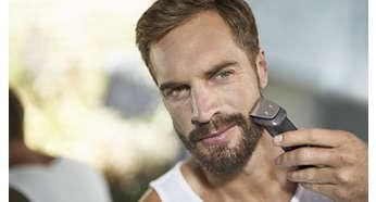 Metalltrimmer schneidet Bart, Haare und Körperbehaarung unglaublich präzise