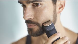 Metal trimmer precisely trims beard and hair