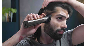 Extra-wide hair trimmer for quick trims, haircuts and fades