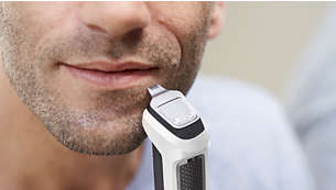 Präzisionstrimmer aus Metall für perfekte Kanten an Bart oder Spitzbart