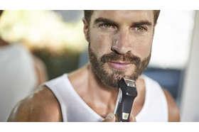 Presný kovový zastrihávač určuje línie vašej brady alebo briadky