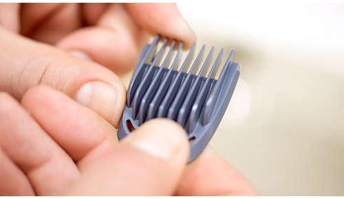 8 hřebenů na zastřihování obličeje, vlasů atěla
