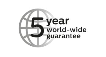 5-year guarantee and worldwide voltage