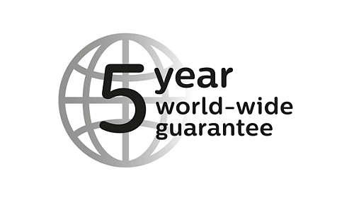 Garanzia di 5 anni e tensione universale