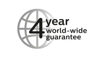 4-year guarantee and worldwide voltage