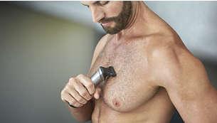 تعمد آلة حلاقة شعر الجسم إلى حلاقة شعر الجسم براحة تامة
