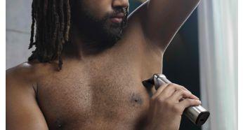 Бритва для тела обеспечивает комфортное бритье волос на теле