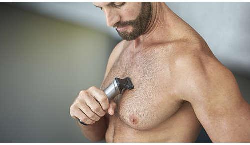 Bodyshave scheert op comfortabele wijze uw lichaamshaar