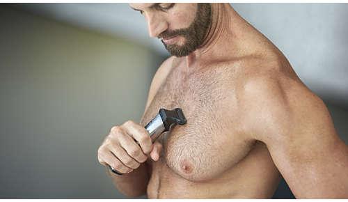 Le rasoir corps permet un rasage confortable des poils de votre corps