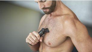 Bodyshaver комфортно бреет волосы на теле