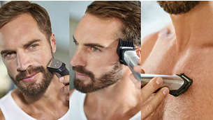 Trim and style your face, head and body with 23 pieces