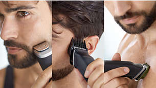 Trim and style your face, head and body with 18 pieces