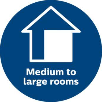 Ideální pro střední až velké místnosti