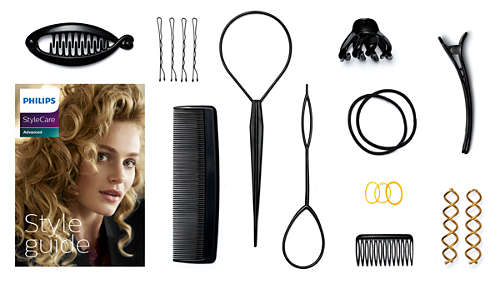Guide de coiffure et 11accessoires cheveux pratiques pour plus de 15styles