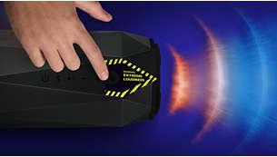SHOQ-modusknop voor een extreem hoog volume