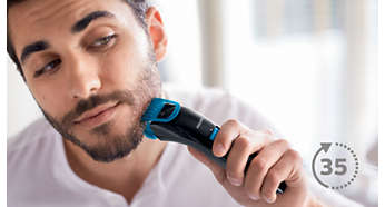 Up to 35 minutes of cordless use after 8 hours charging
