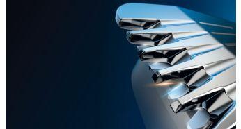 Технология DualCut: в 2раза больше лезвий для максимальной точности