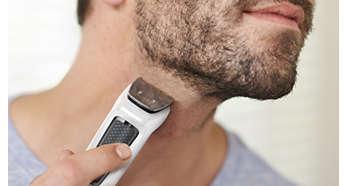 Metalltrimmer schneidet Bart und Haare