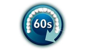 Требуется всего 60секунд: направьте насадку, нажмите на кнопку, начните чистку!