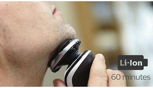 60Minuten kabellos rasieren