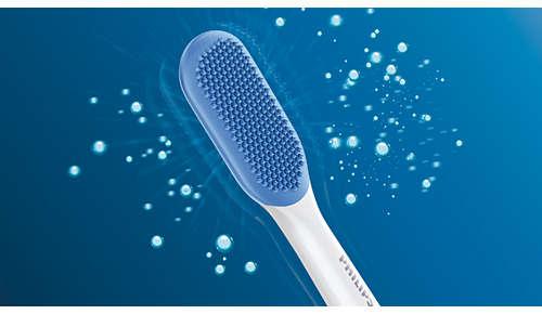 240 vláken MicroBristles pro šetrné hloubkové vyčištění