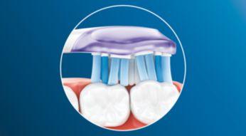 Až 2x větší kontakt spovrchem zubů a dásní** pro hloubkové čištění bez námahy