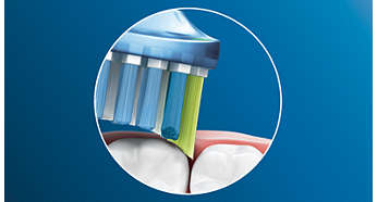 Up to 10x more plaque removal than a manual toothbrush