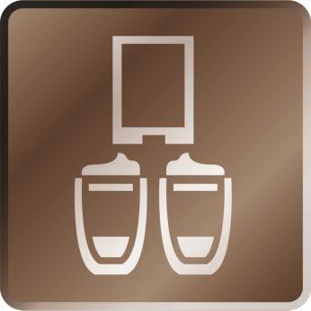 Prepara 2 tazze di bevande al caffè in una volta sola, incluso il cappuccino