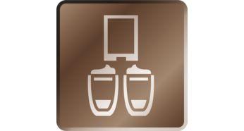Préparez deux tasses de café à la fois, y compris les cappuccino
