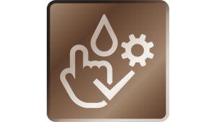 Система очистки и обслуживания запускается тремя нажатиями