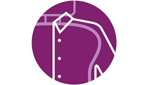 System ShoulderShape ułatwiający prasowanie koszul