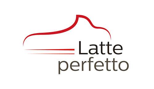 Une excellente mousse de lait grâce à notre technologie Latte Perfetto