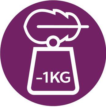 1kg lighter*