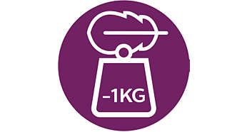 1 kg lighter*